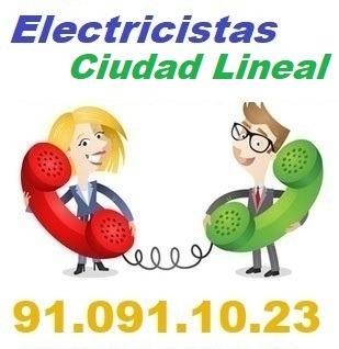Telefono de la empresa electricistas Ciudad Lineal