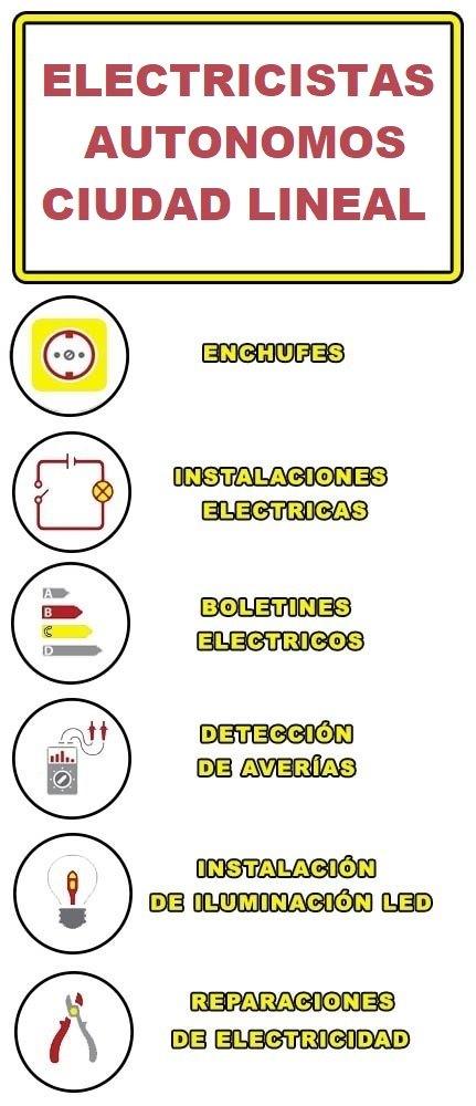 servicios de electricidad en Ciudad Lineal
