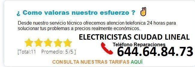 electricistas ciudad lineal precios