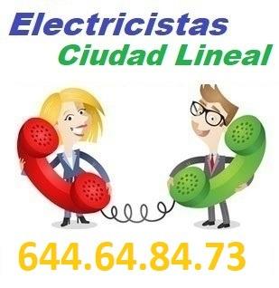 Electricistas Ciudad Lineal calle del cardenal Siliceo